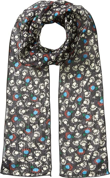 Anna Sui Printed Silk Chiffon Scarf