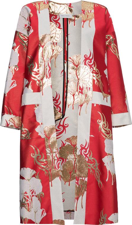 Beau Souci Red Silk Robe Kimono