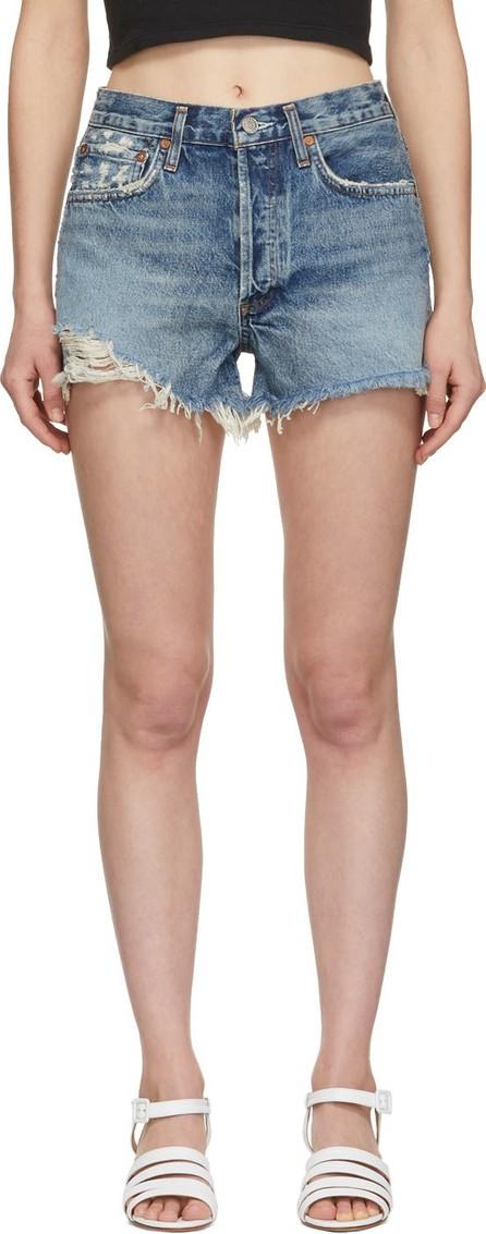 Agolde Blue Denim Parker Shorts