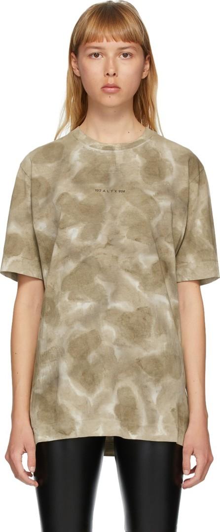 1017 ALYX 9SM Khaki Tie-Dye Logo T-Shirt