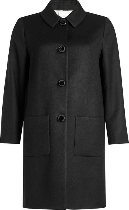 Agnona Wool Coat with Mink Fur Buttons
