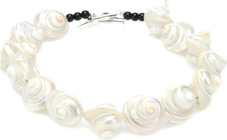 Sophie Buhai Shell Collar with sterling silver detailing