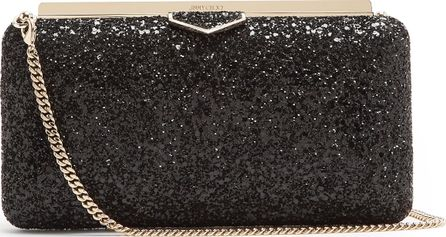 Jimmy Choo Ellipse glitter clutch bag