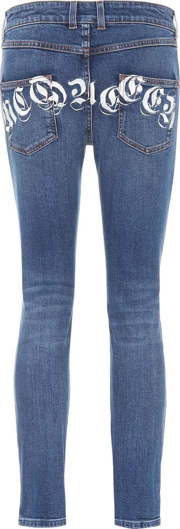 Alexander McQueen Printed mid-rise skinny jeans