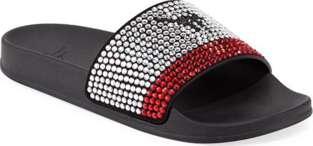 Giuseppe Zanotti Men's Crystal-Embellished Athletic Slide Sandal