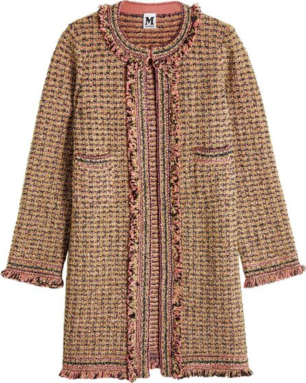 M Missoni Knit Coat with Wool, Cotton and Metallic Thread