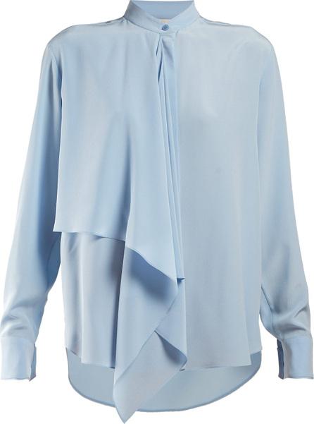 Stella McCartney Draped-panel blouse