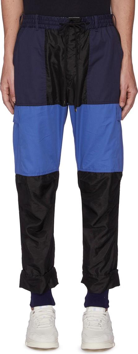 Maison Flaneur Colour-Block Jogger Pants