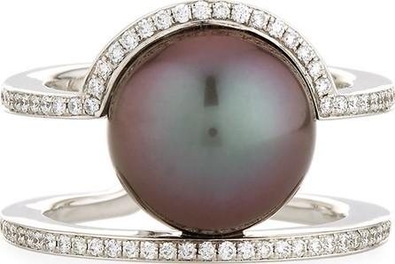Belpearl Kobe Sunrise Tahitian Pearl & Diamond Ring, Size 7.5