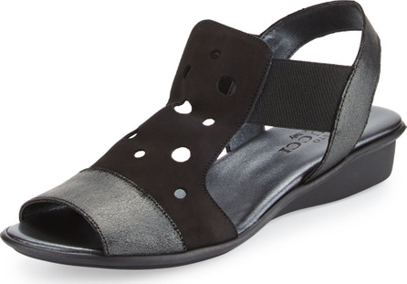 Sesto Meucci Eddy Perforated Comfort Sandals, Black