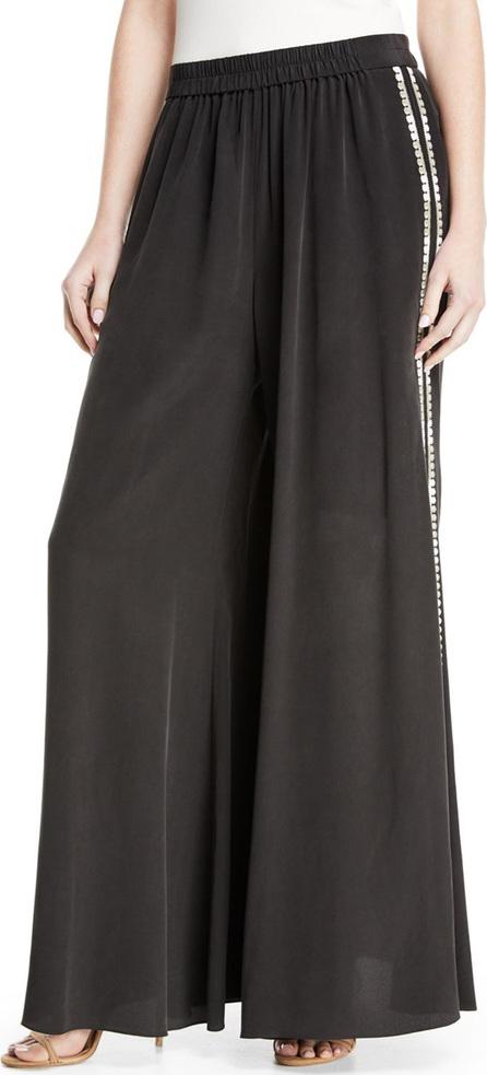Giada Side-Stripe Wide-Leg Pants