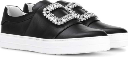 Roger Vivier Sneaky Viv embellished leather sneakers