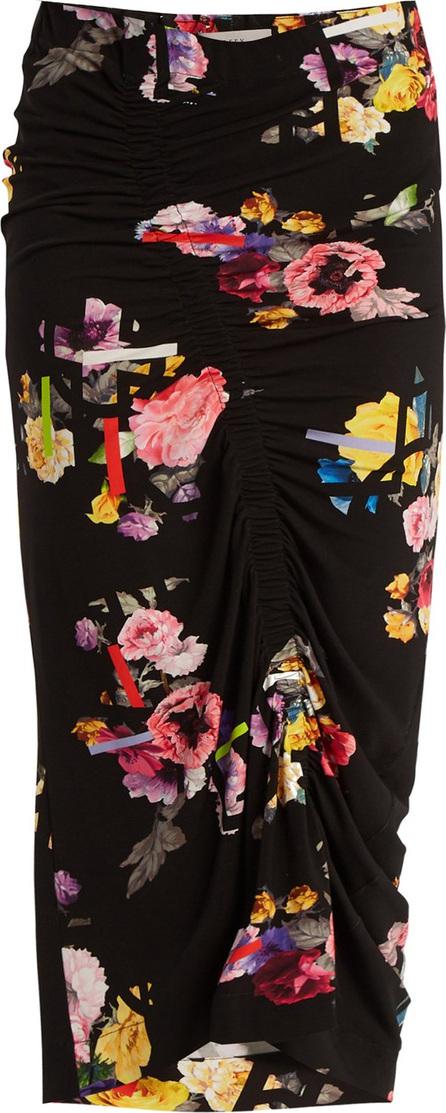 Preen Cosmia posy-print stretch crepe skirt