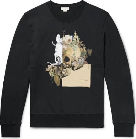 Alexander McQueen Printed Loopback Cotton-Jersey Sweatshirt