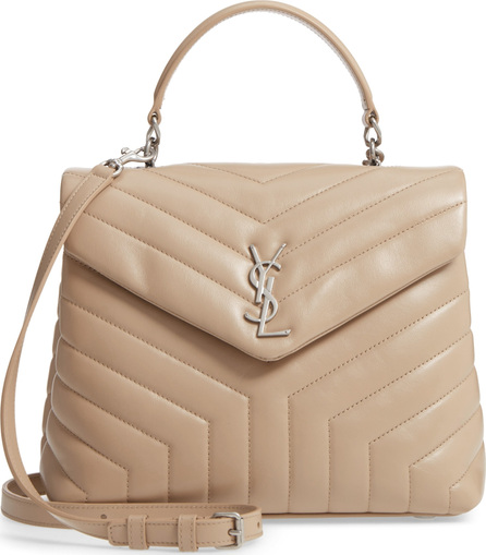 Saint Laurent Loulou Leather Top Handle Satchel