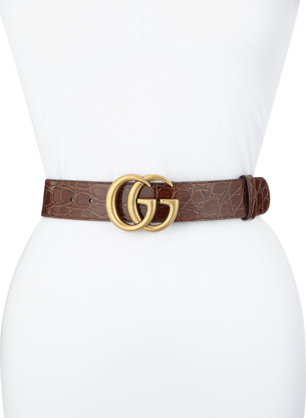 Gucci Crocodile Belt with GG Buckle