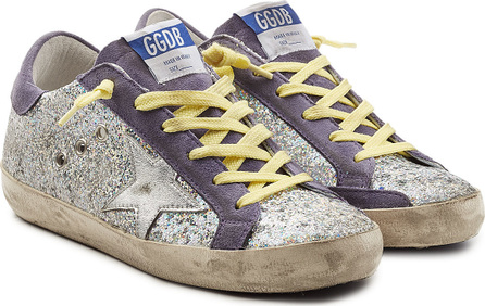 Golden Goose Deluxe Brand Super Star Glitter Sneakers with Suede