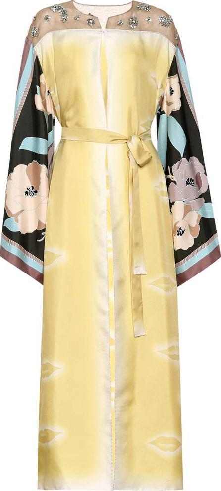 Dries Van Noten Embellished silk coat