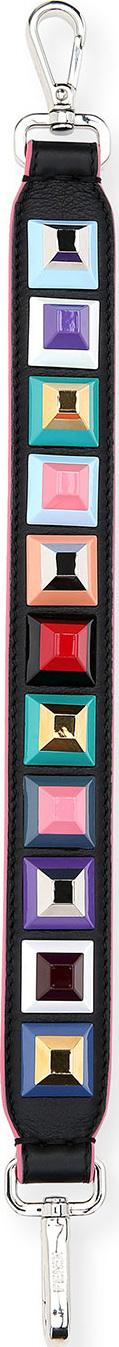 Fendi Strap You Mini Studded Shoulder Strap for Handbag, Black/Multi