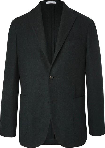 Boglioli Black Unstructured Wool, Cotton and Cashmere-Blend Hopsack Blazer