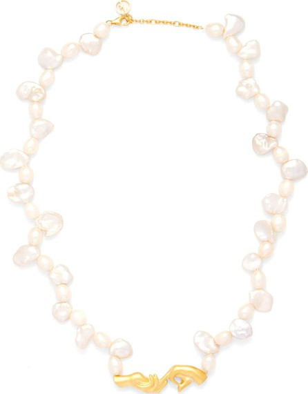 Anissa Kermiche Pearl and gold-plated necklace