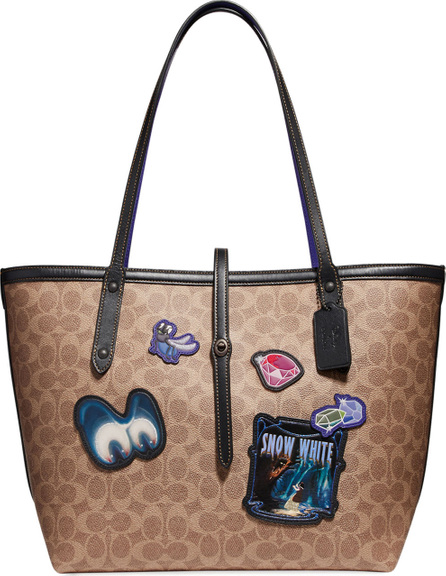 COACH 1941 Disney Dark Fairy Tale Coated Canvas Patches Market Tote Bag