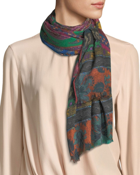 Etro Dehly Ribbon Mandala Collage Print Scarf