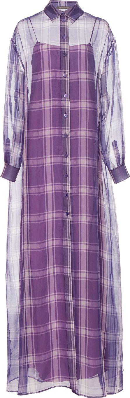 Alberta Ferretti Button Front Maxi Dress