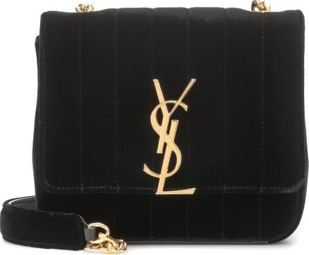 Saint Laurent Vicky Small velvet shoulder bag