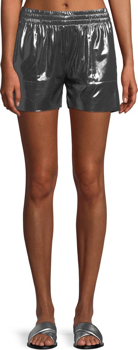 Norma Kamali Boyfriend Metallic Athletic Shorts