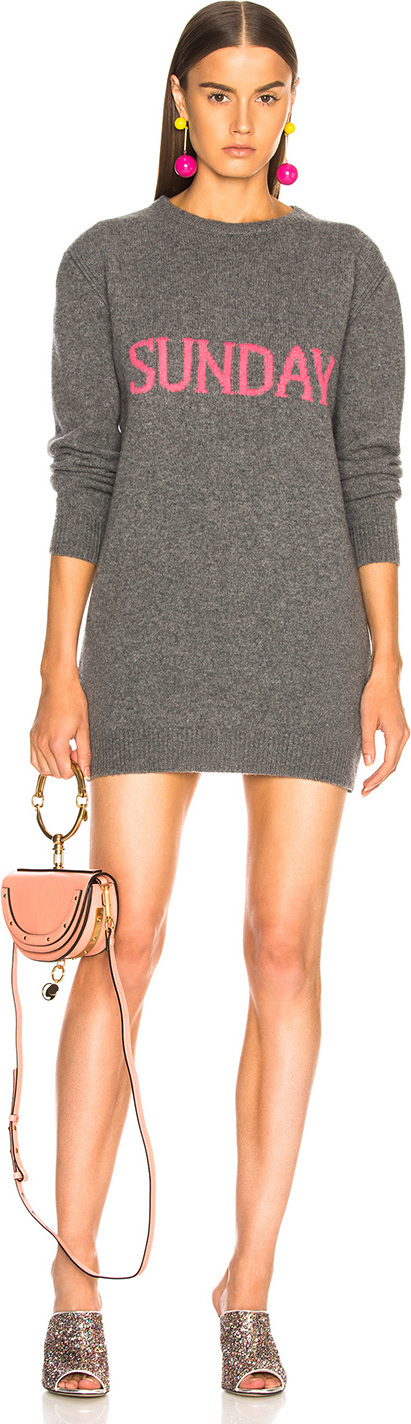 Alberta Ferretti Sunday Crewneck Sweater Dress