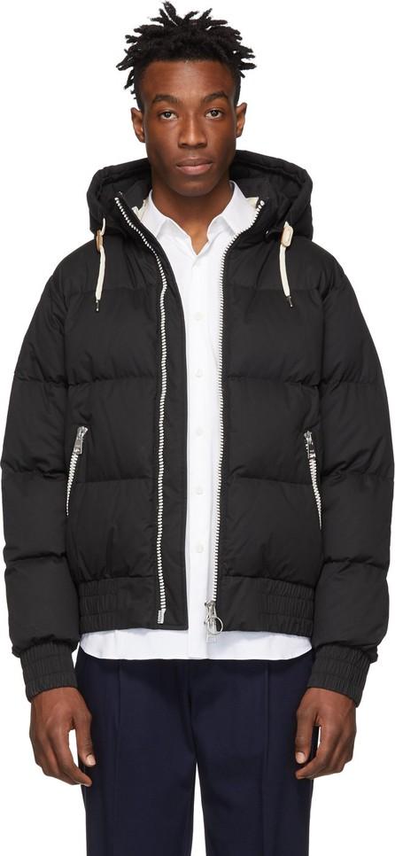 AMI Black Down Hooded Jacket