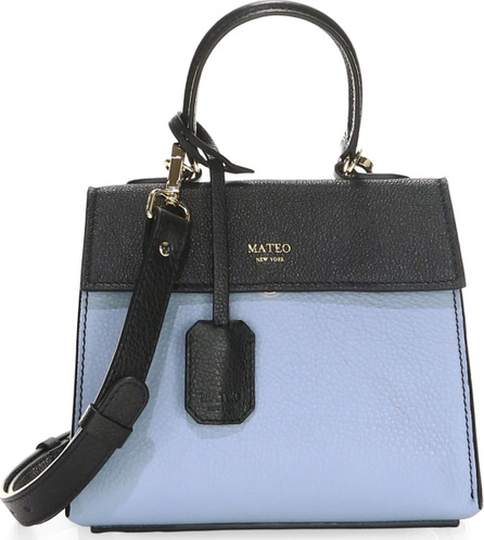 MATEO NEW YORK Elizabeth The II Mini Leather Satchel