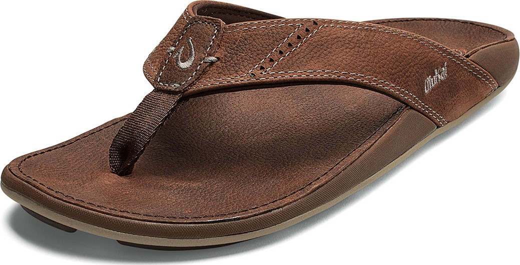 def51358bf5 Olukai Men s Nui Faux-Leather Flip-Flop Sandals in Beige - Mkt