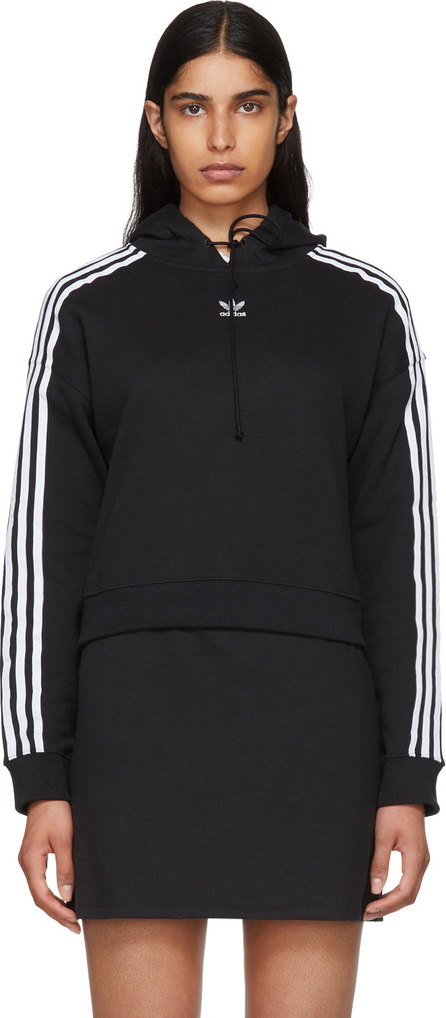 Adidas Originals Black Cropped Hoodie