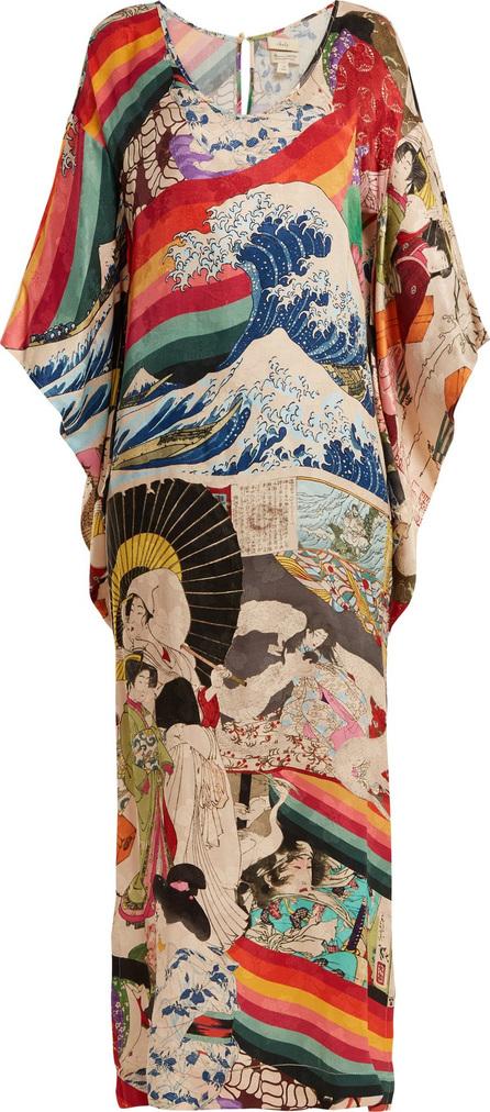 033dffb7803d4 Chufy Trippin printed deep V-neck satin slip dress - Mkt
