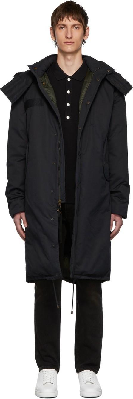 Mr&Mrs Italy Black Cotton Deerskin Coat