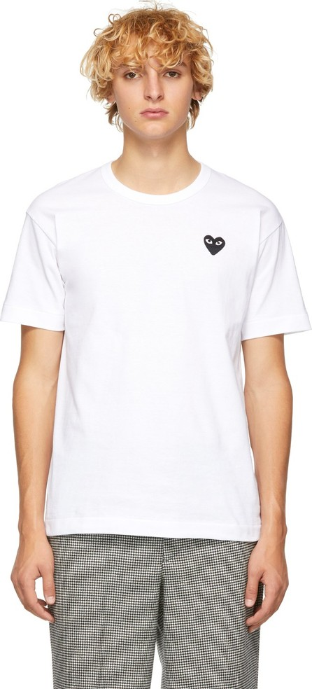 Comme Des Garcons PLAY White & Black Heart Patch T-Shirt