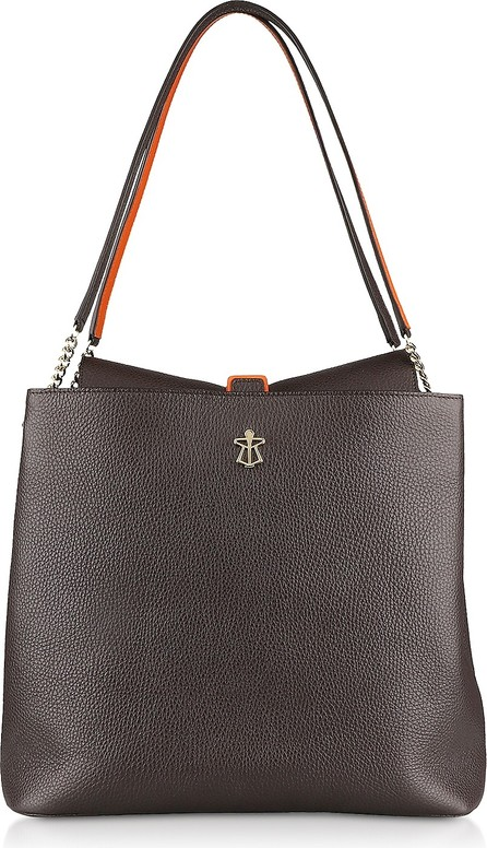 Lara Bellini Gianna Dark Brown Leather Tote bag