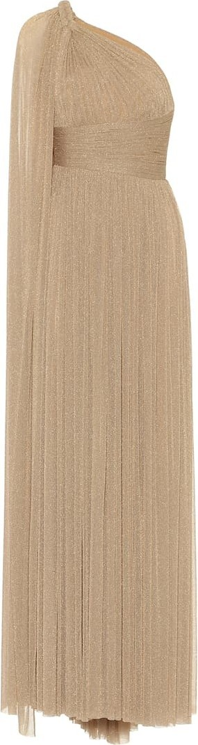 ELIE SAAB Metallic stretch-knit gown