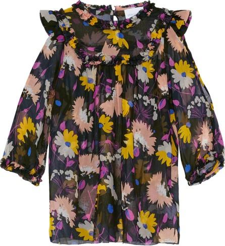 Alice McCall Diamond Eyes cutout floral-print silk-georgette blouse