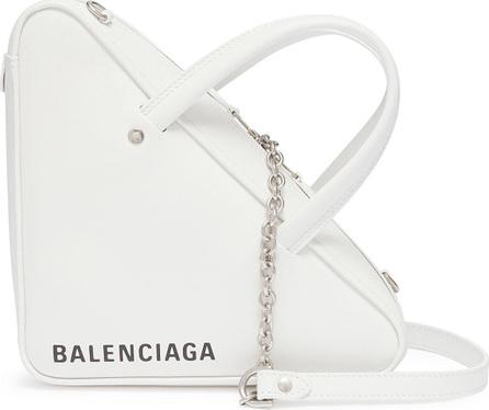 Balenciaga 'Triangle' logo print XS leather shoulder bag