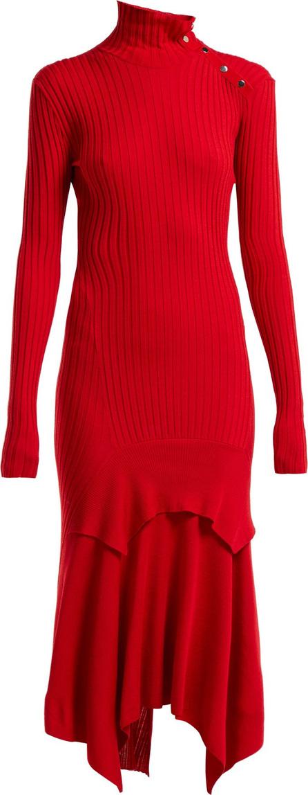 Stella McCartney Handkerchief-hem ribbed-knit dress