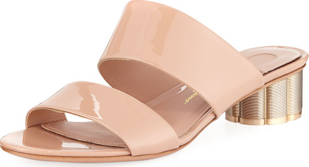 Salvatore Ferragamo Patent Leather 30mm Sandal