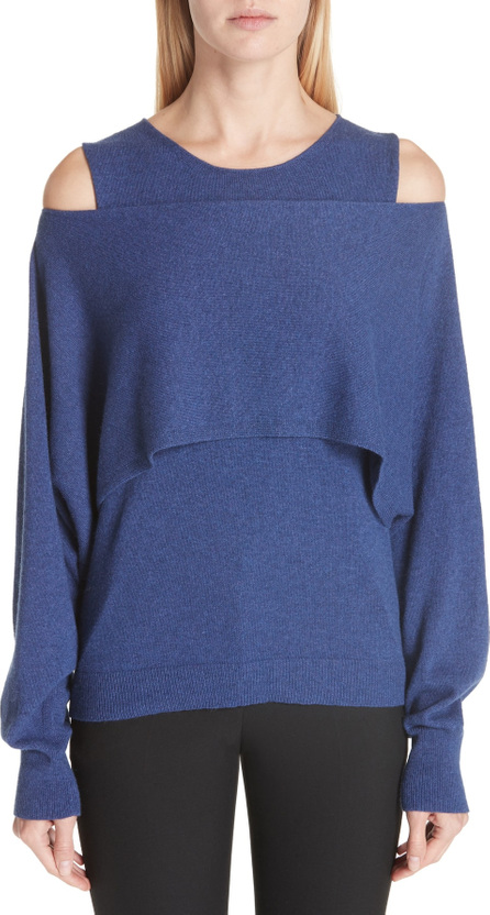 Fuzzi Layered Cold Shoulder Sweater