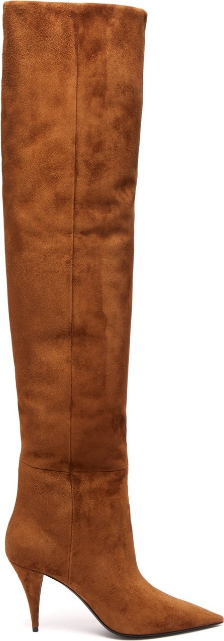 Saint Laurent Kiki slouchy suede over-the-knee boots