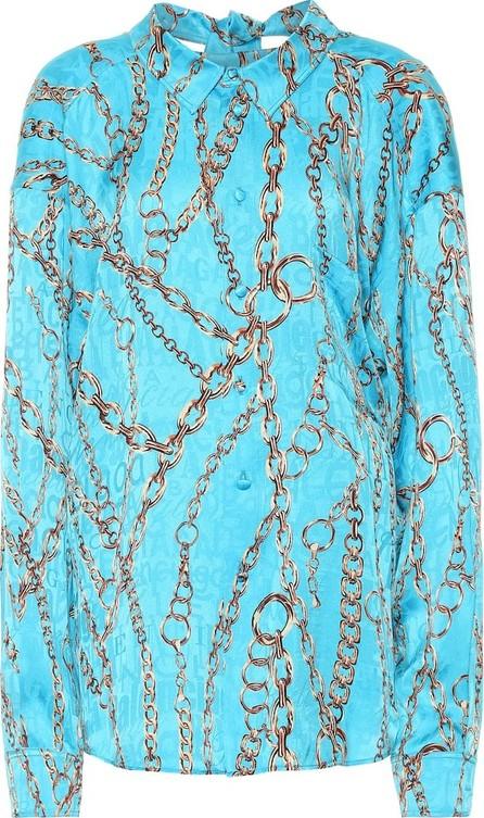 Balenciaga Printed silk blouse