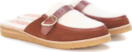 Ancient Greek Sandals Hestia suede slippers