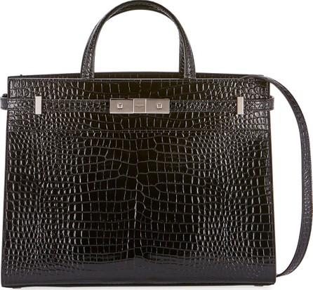 Saint Laurent Manhattan Medium Crocodile-Embossed Tote Bag