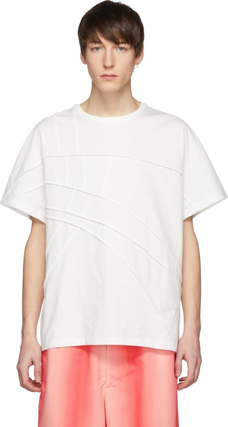 Feng Chen Wang White Panelled T-Shirt